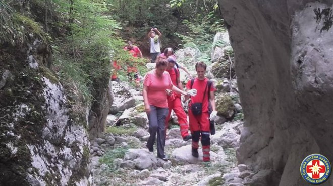 FOTO: GSS Široki Brijeg odveo jednu od sestara Čuljak na mjesto gdje su provele sedam dana u ledenoj klopci
